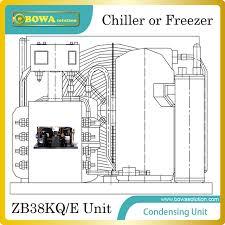 condensation chambre copland zb38kq e 5hp unité de condensation pour 30 50m3