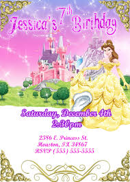 disney princess birthday invitations kustom kreations