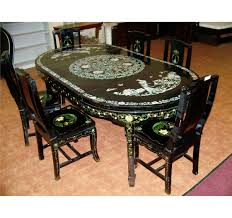 oriental dining room set chinese dining room set alliancemv com table and chairs in india