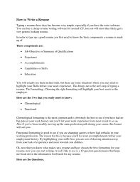 How To Rite A Resume How To Type Up A Resume Resume For Your Job Application