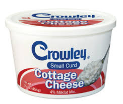 Nutrition Facts For Cottage Cheese by Crowley Foods Small Curd Cottage Cheese