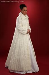 manteau mariage manteau de mariée en faux vison promo