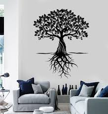 vinyl wall decal tree roots leaves home art decor stickers murals vinyl wall decal tree roots leaves home art decor stickers murals ig4763