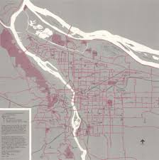 Map Portland Oregon by Unearthed 1975 City Of Portland