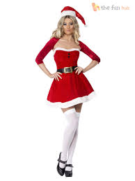 santa costume fever miss santa costume womens christmas fancy