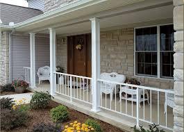 front porch entrancing front porch desig with square white columns