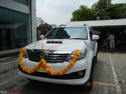 got fortune u0027d white toyota fortuner team bhp