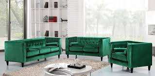 taylor sofa 642 in green velvet fabric w optional items