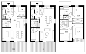 5 room floor plan terraced houses sun garden bernolákovo slovakia rules architects