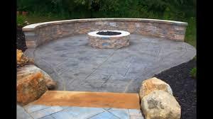creative stamped concrete patio design youtube