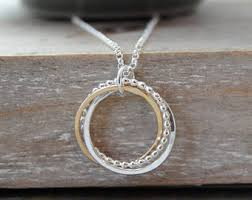 silver rings necklace images Ring necklace etsy jpg