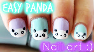 cute easy panda nail art best nail 2017 the little canvas panda