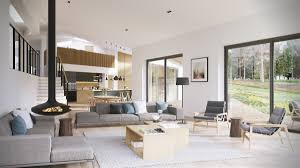 Unique Open Floor Plans Open Plan Interior Design Inspiration Design By Style White And