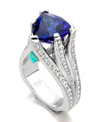 tanzanite gemstone rings images Tanzanite opal ring natural colored diamond engagement rings jpg