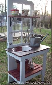 pretty potting bench ideas