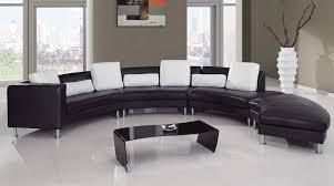 Half Round Sofas Black Half Round Sofa Furniture Set With White Cushions For