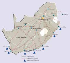 Port Elizabeth South Africa Map by City Of Johannesburg Gateway To Africa