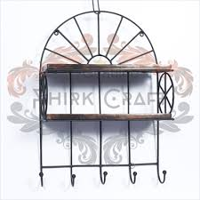 Key Holder Wall Wooden And Iron Wall Shelf And Key Holder Wrought Iron Key Holder