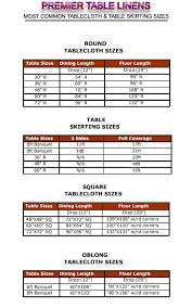 standard party table size table linen size calculator regarding rectangular tablecloth sizes
