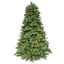 7 5 ft pre lit led balsam fir artificial tree with warm