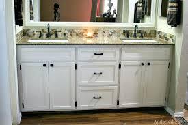 double sink bathroom vanity with tower makeup area vanities