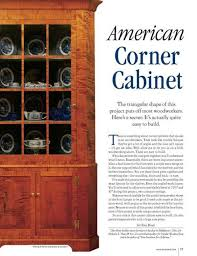 how to build an corner cabinet american corner cabinet project
