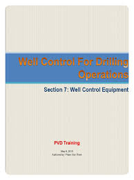 7 well control equipment pdf blowout well drilling