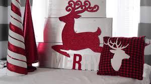 christmas craft 1 reindeer sign using dollar tree decor youtube