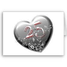25 ans de mariage joli coeur pour souhaiter vos 25 ans de mariage