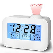 light projection alarm clock alarm clocks for bedrooms bidason cool digital snooze projection