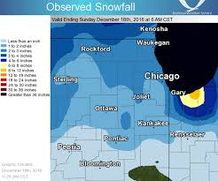 Rockford Illinois Map by December 16 18 2016 Snowfall Event