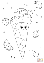 ice cream character coloring page free printable coloring pages