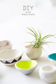 making diy pinch pots with crayola air dry clay think make share