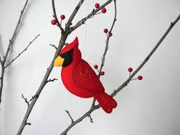 felt cardinal ornament felt ornament cardinal