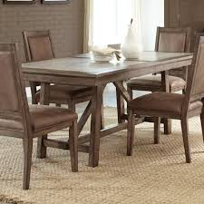 Liberty Furniture Stone Brook Casual Cement Top Trestle Table - Trestle kitchen tables