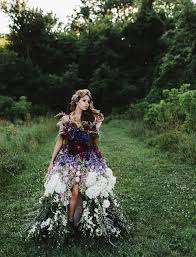 flower dress a dress made of flowers green wedding shoes
