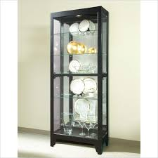 Display Cabinet With Lighting Cabinet Lighting Elegant Glass Curio Cabinets With Lights Design