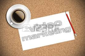 coffee and pencil sketch video marketing on paper stock photo