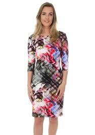 coloured dress buy joseph ribkoff multi coloured floral gingham pencil dress