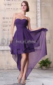 violet dress hi lo sweetheart violet cocktail dresses chiffon asymmetrical