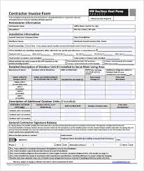 contractor invoices download electrical invoice template pdf