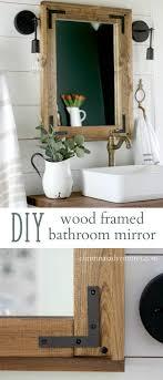 fancy bathroom mirrors diy wood framed bathroom mirror frame bathroom mirrors simple
