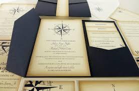 vintage compass wedding invitation navy blue nautical blue