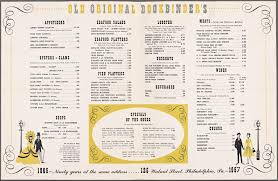 bookbinders snapper soup original bookbinder s menus whats on the menu