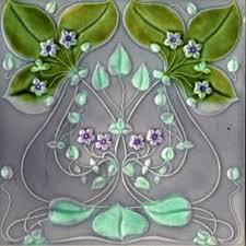 art nouveau reproduction ceramic decorative wall tile 4 25 x 4 25