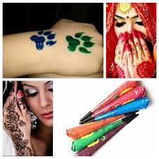 henna makeup 9 color choose indian henna tattoo paste women makeup mehndi
