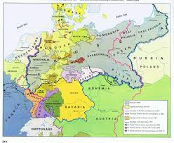 Map Of Belgium And Germany Central Europe U0026 The Unification Of Germany