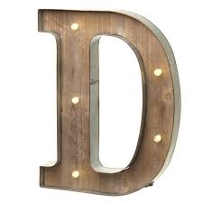 marquee vintage light up letter d wall sign led industrial rustic
