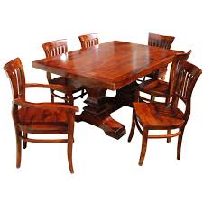 no stain natural solid wood dining room table u0026 chair set w extensions