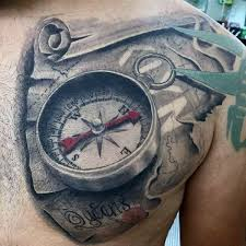 3d map scroll for on chest tattoosformenonchest